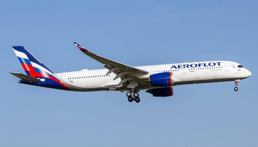 アエロフロートロシア航空のA350-900型機が初飛行